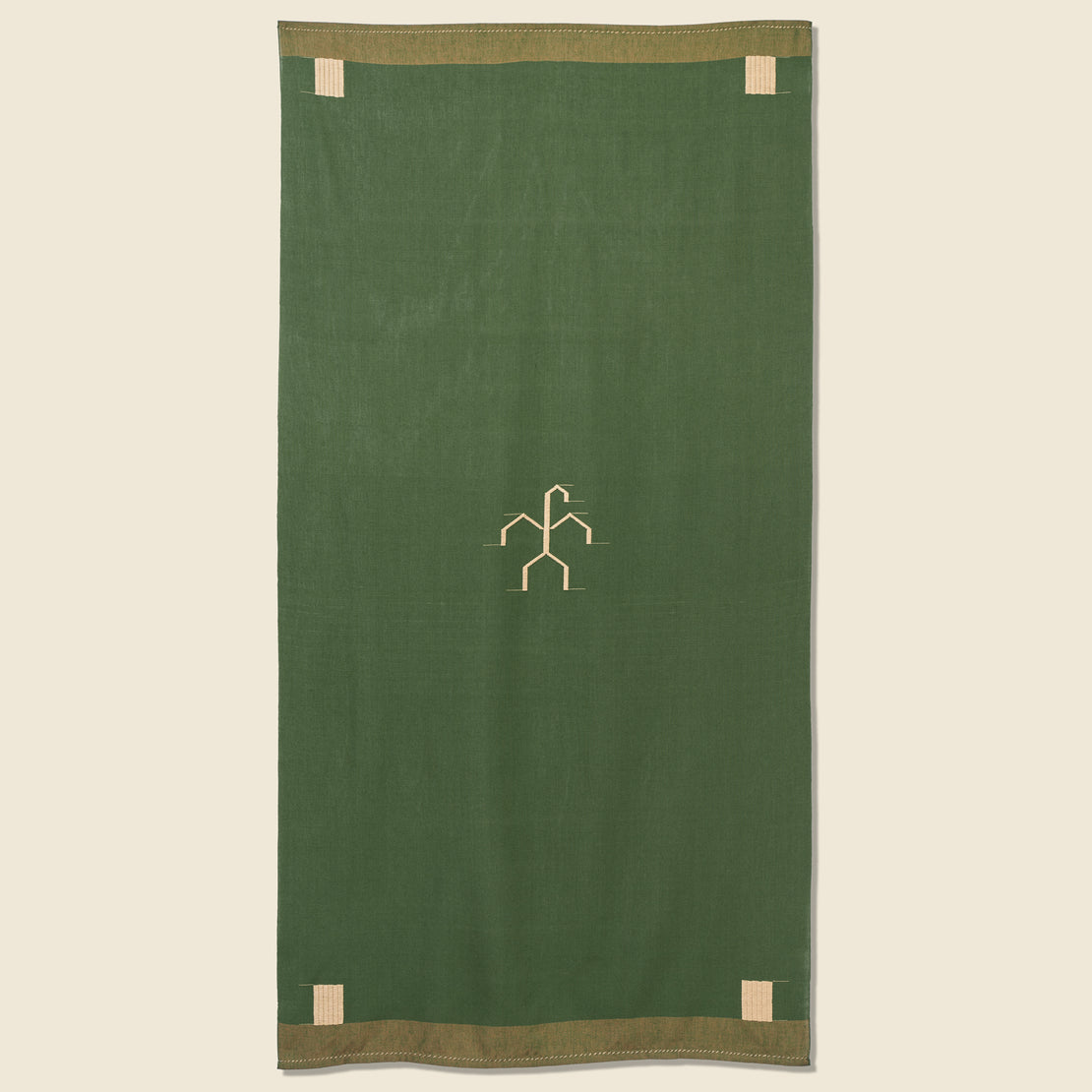 House of LAND Solola Beach Rug - Woven Green