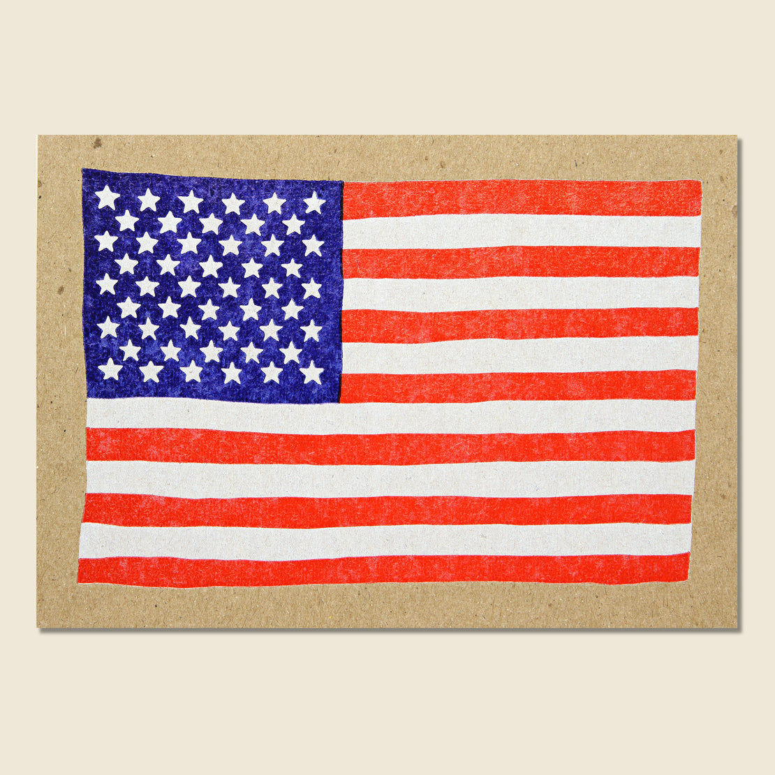 Paper Goods American Flag Postcard