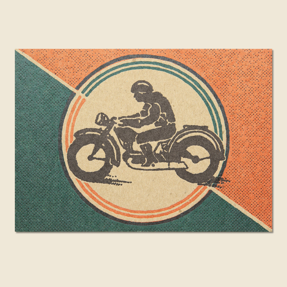 Paper Goods Motorcycle Postcard