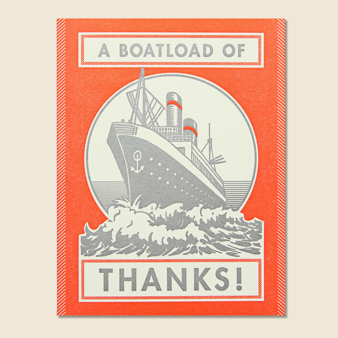Paper Goods Boatload of Thanks Card
