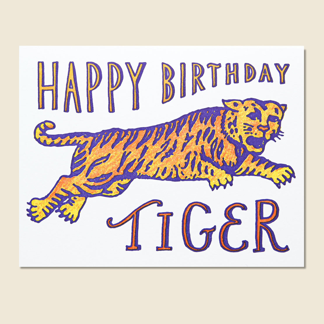 Hammerpress Birthday Tiger Card