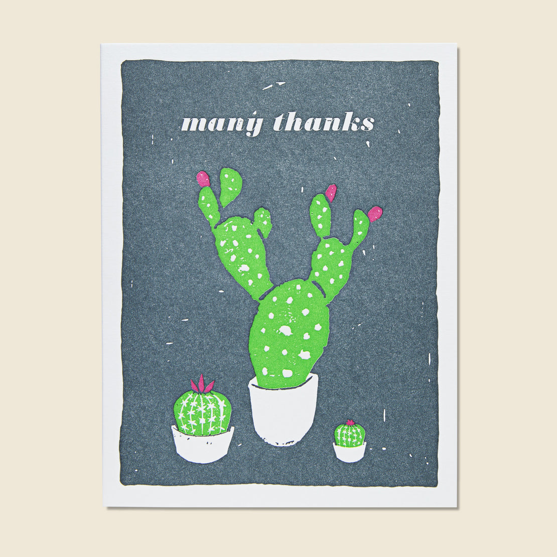 Paper Goods Many Thanks Cacti Card