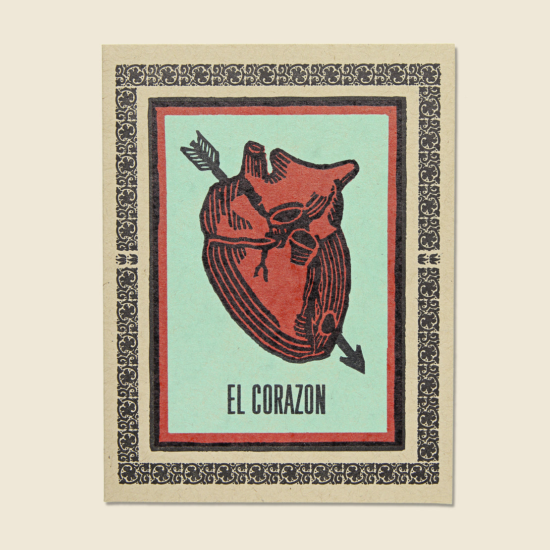 Paper Goods El Corazon Heart Card