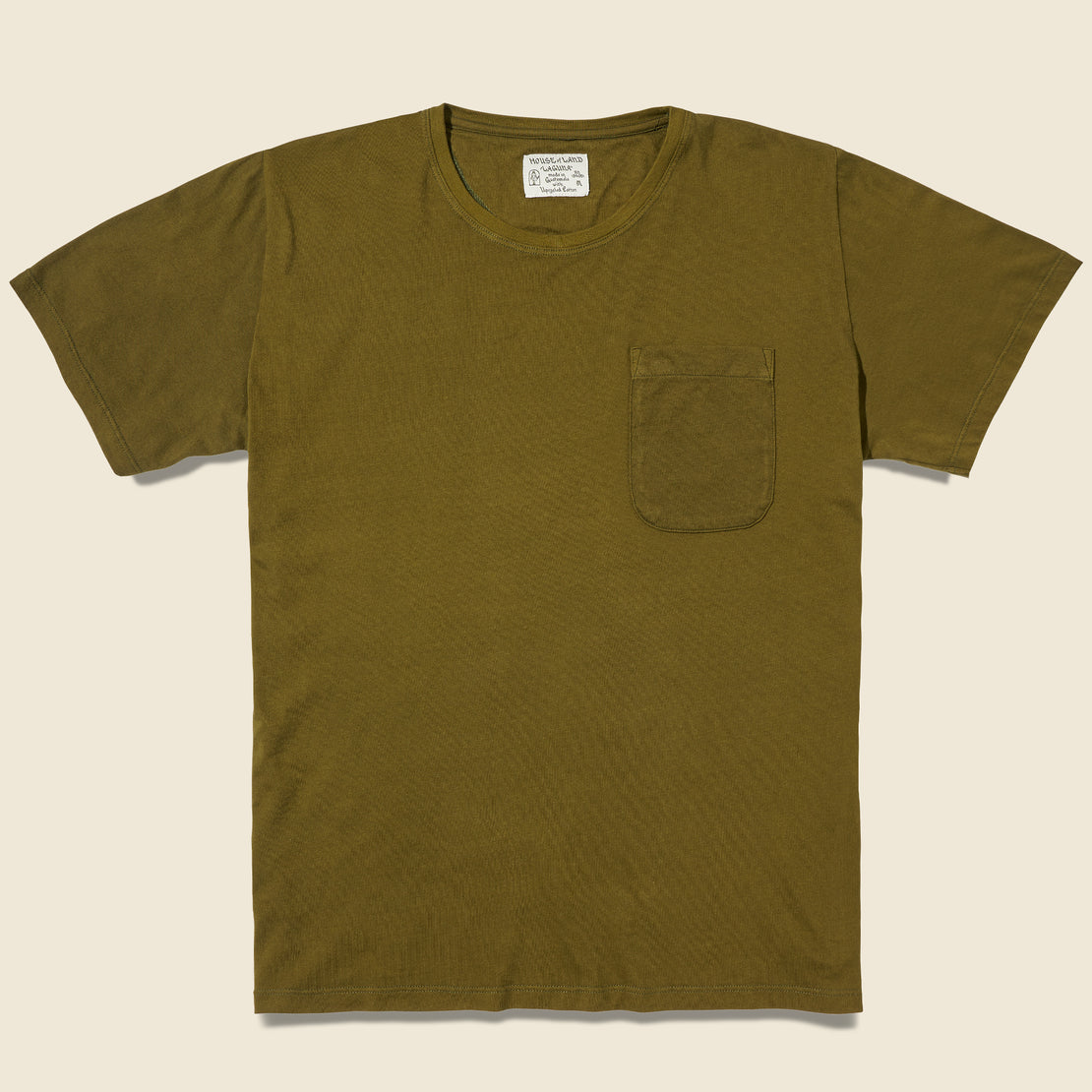 House of LAND Laguna Pocket Tee - Verde