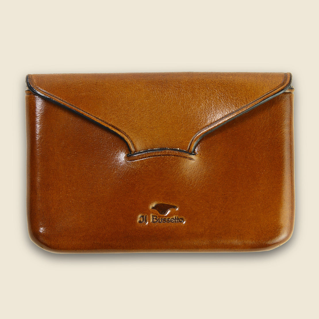 Il Bussetto Business Card Holder - Light Brown