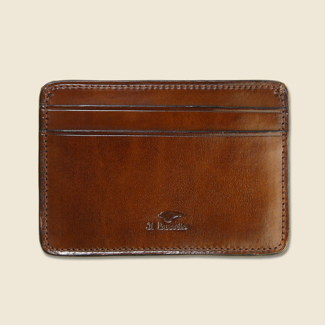 Il Bussetto Credit Card Case - Dark Brown