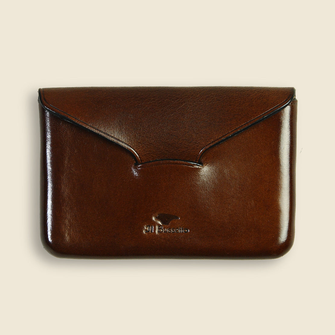 Il Bussetto Business Card Holder - Dark Brown