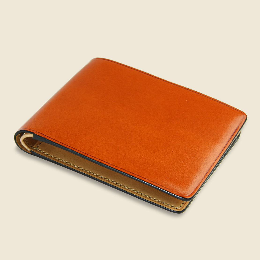 Small Bi-Fold Wallet - Orange - Il Bussetto - STAG Provisions - Accessories - Wallets