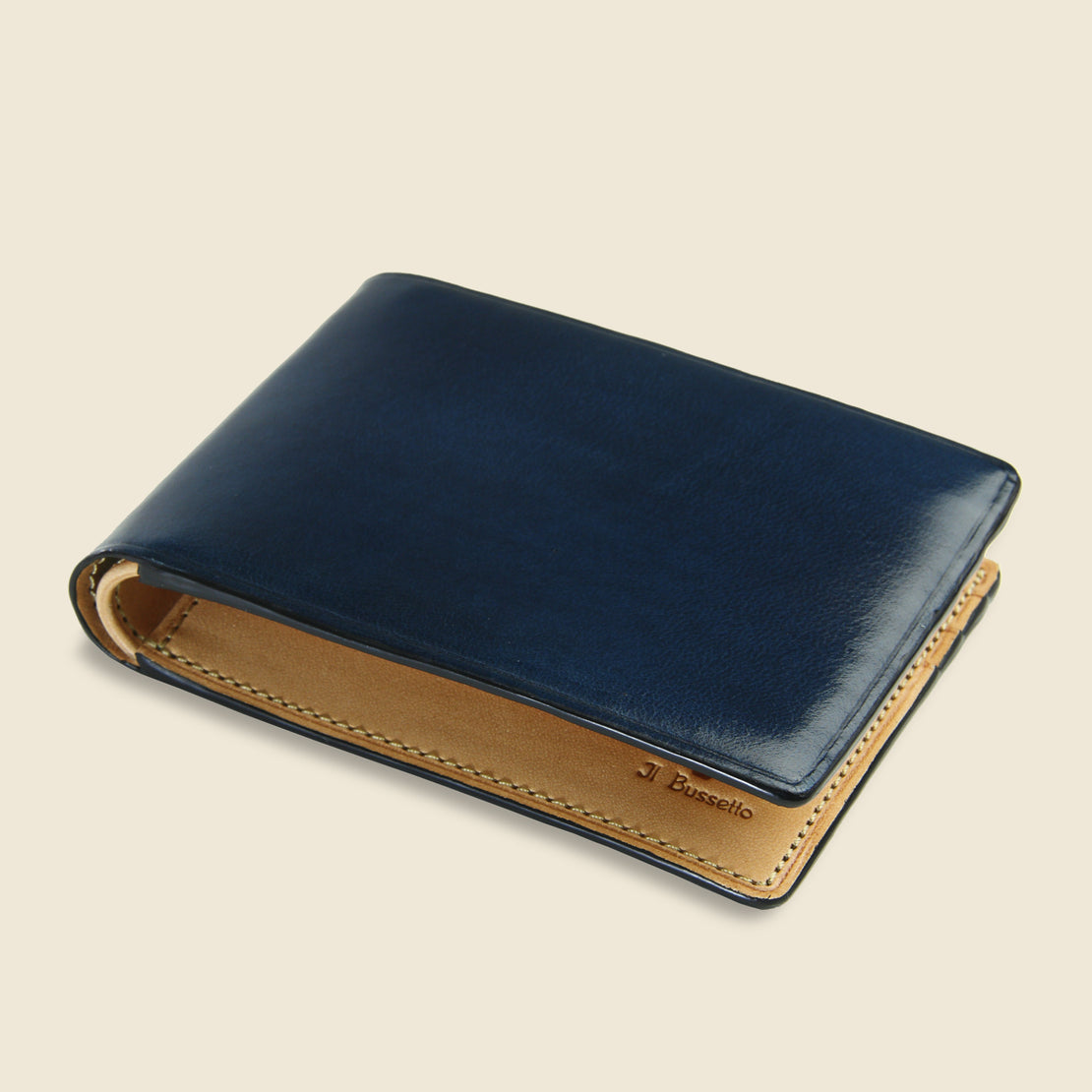 Small Bi-Fold Wallet - Navy