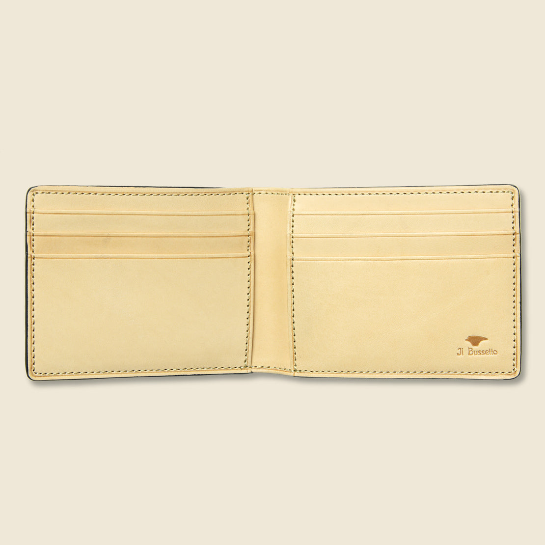 Small Bi-Fold Wallet - Navy - Il Bussetto - STAG Provisions - Accessories - Wallets
