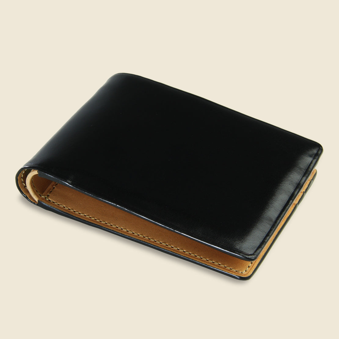 Small Bi-Fold Wallet - Black - Il Bussetto - STAG Provisions - Accessories - Wallets