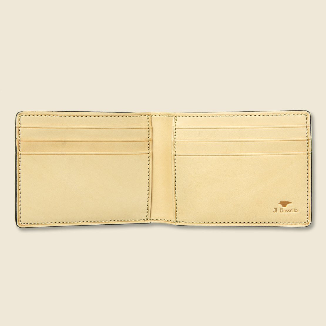 Small Bi-Fold Wallet - Cadet Blue