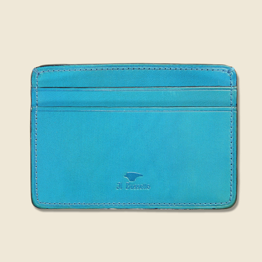 Il Bussetto Credit Card Case - Cadet Blue