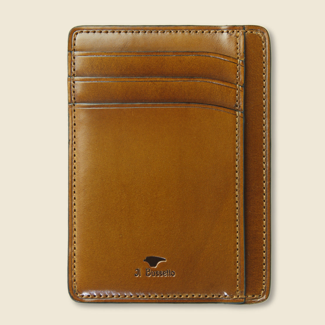 Il Bussetto Card and Document Case - Camel
