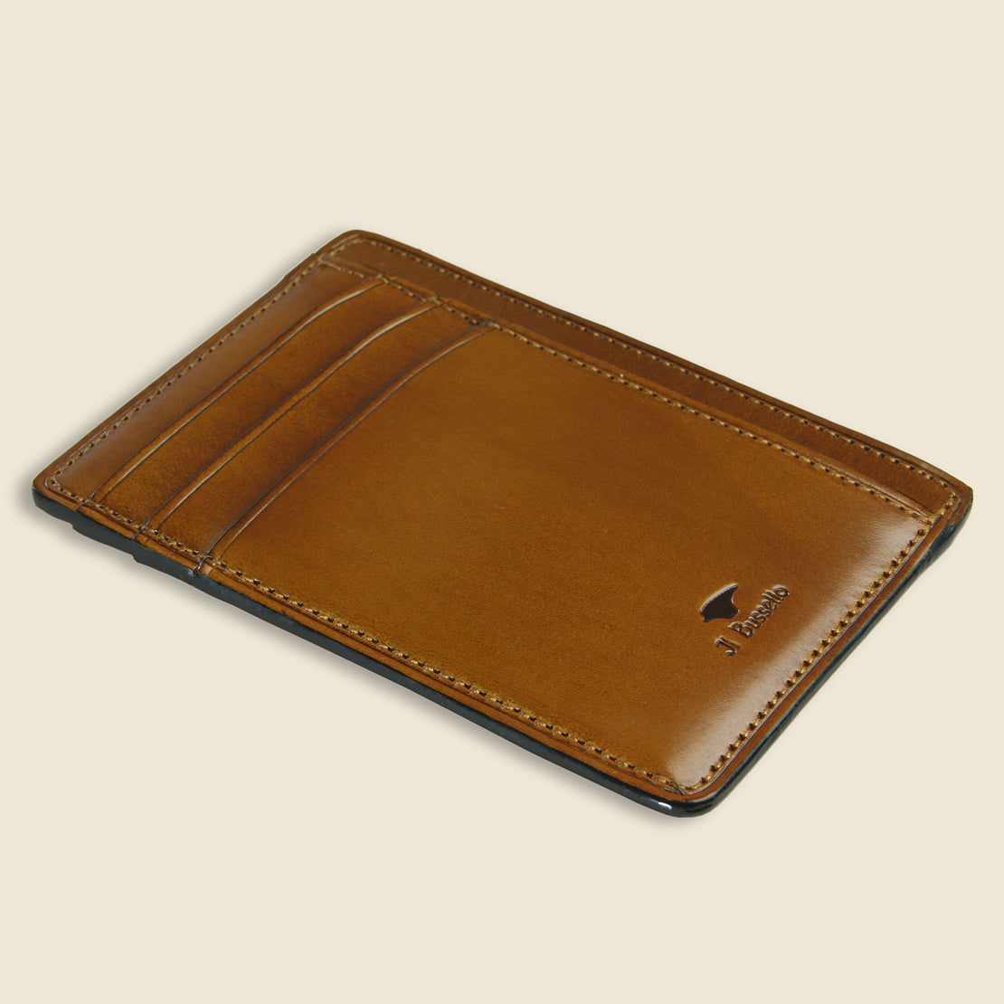 Card and Document Case - Light Brown