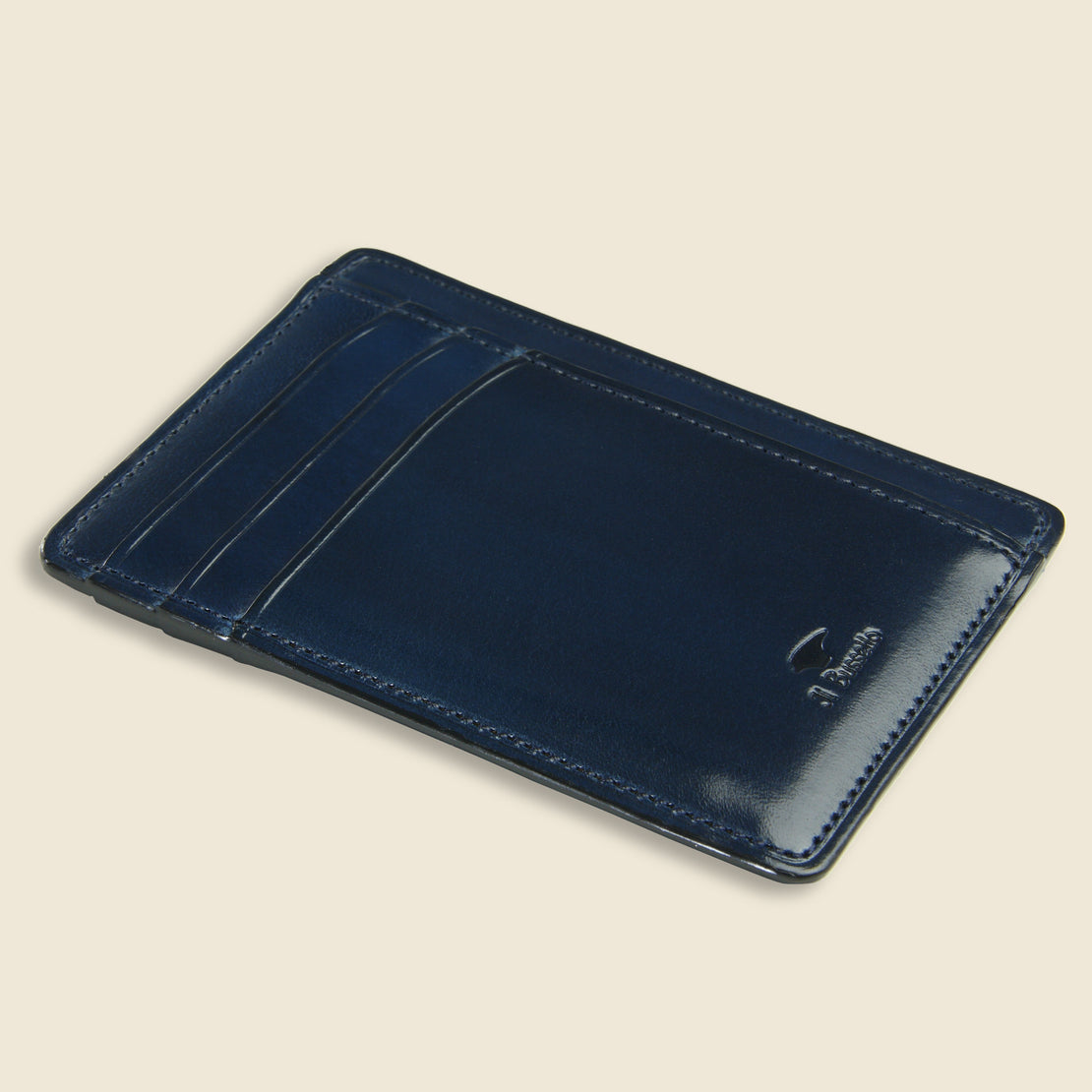 Card and Document Case - Navy - Il Bussetto - STAG Provisions - Accessories - Wallets