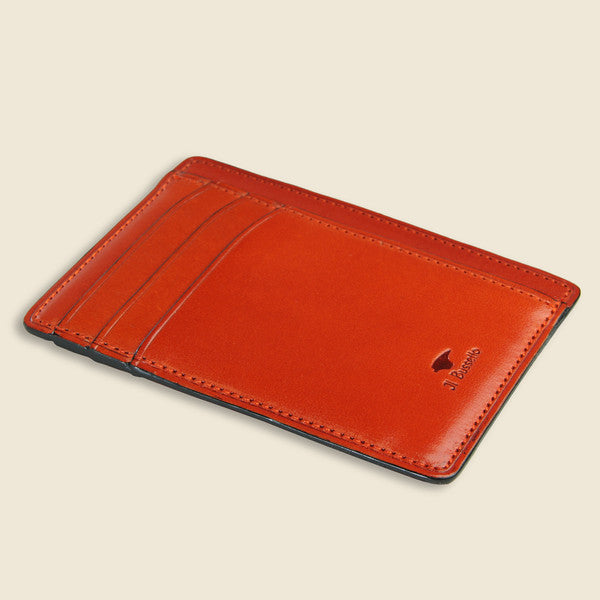 Card and Document Case - Orange - Il Bussetto - STAG Provisions - Accessories - Wallets