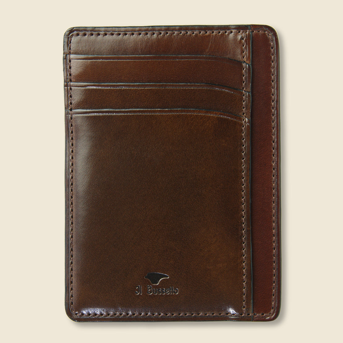 Il Bussetto Card and Document Case - Dark Brown