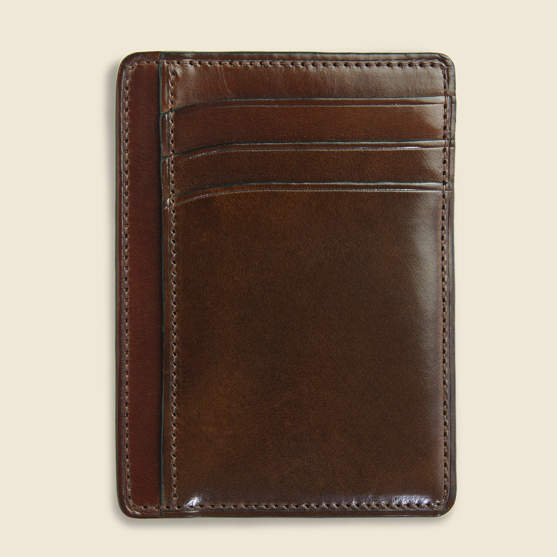 Card and Document Case - Dark Brown - Il Bussetto - STAG Provisions - Accessories - Wallets