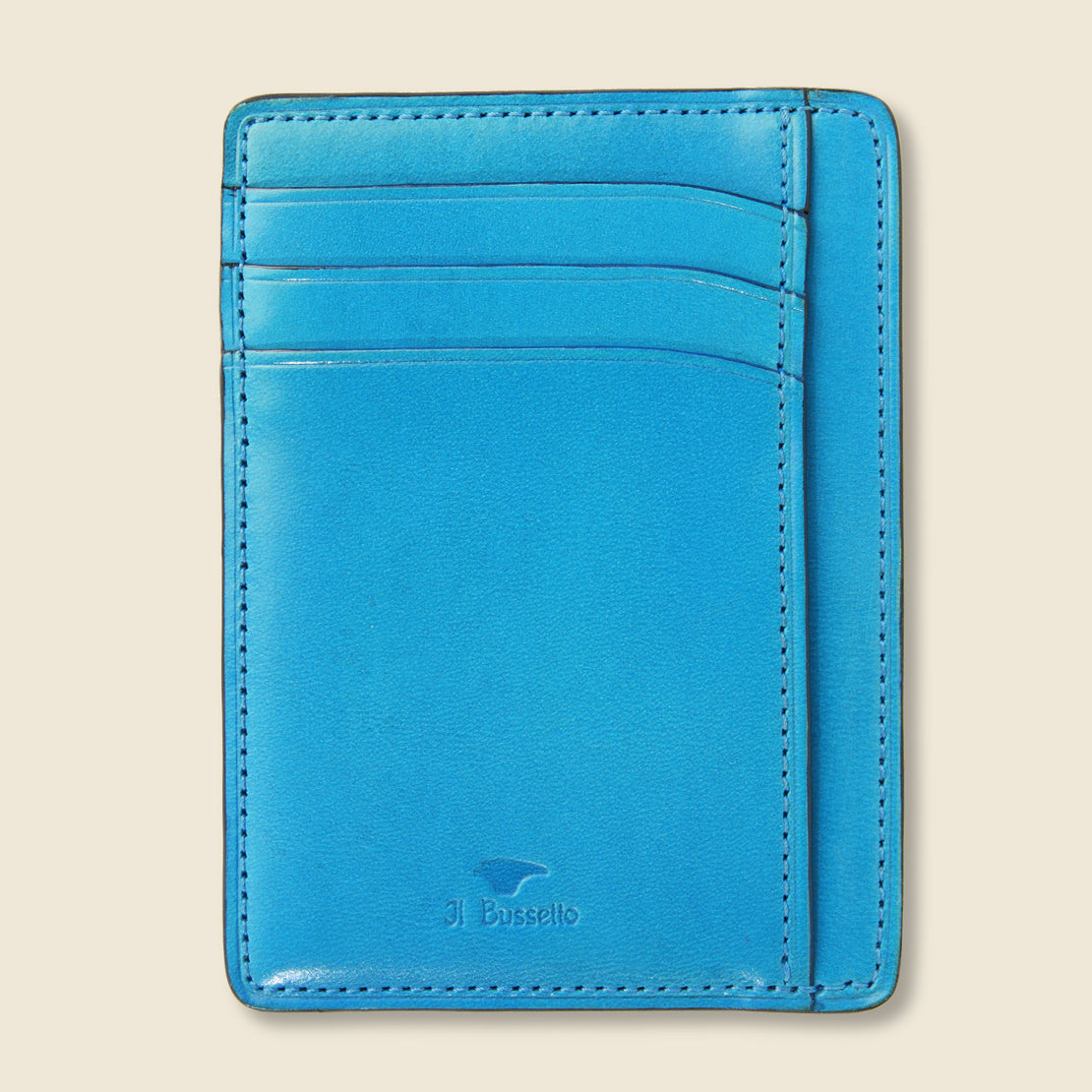 Il Bussetto Card and Document Case - Cadet Blue