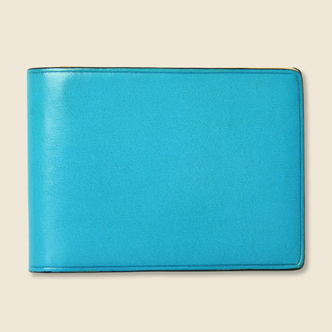 Il Bussetto Small Bi-Fold Wallet - Cadet Blue