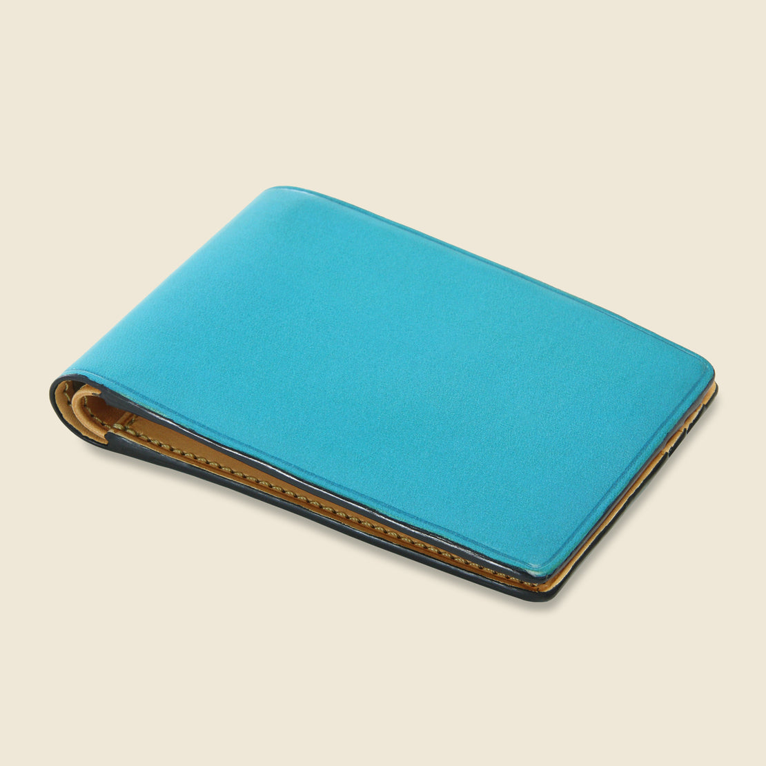 Small Bi-Fold Wallet - Cadet Blue - Il Bussetto - STAG Provisions - Accessories - Wallets