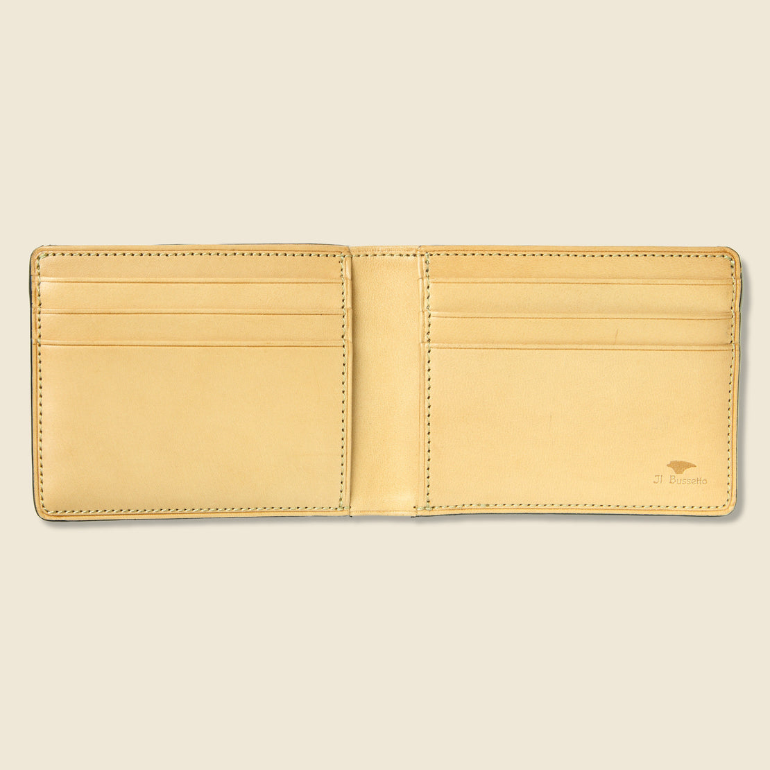 Small Bi-Fold Wallet - Cherry