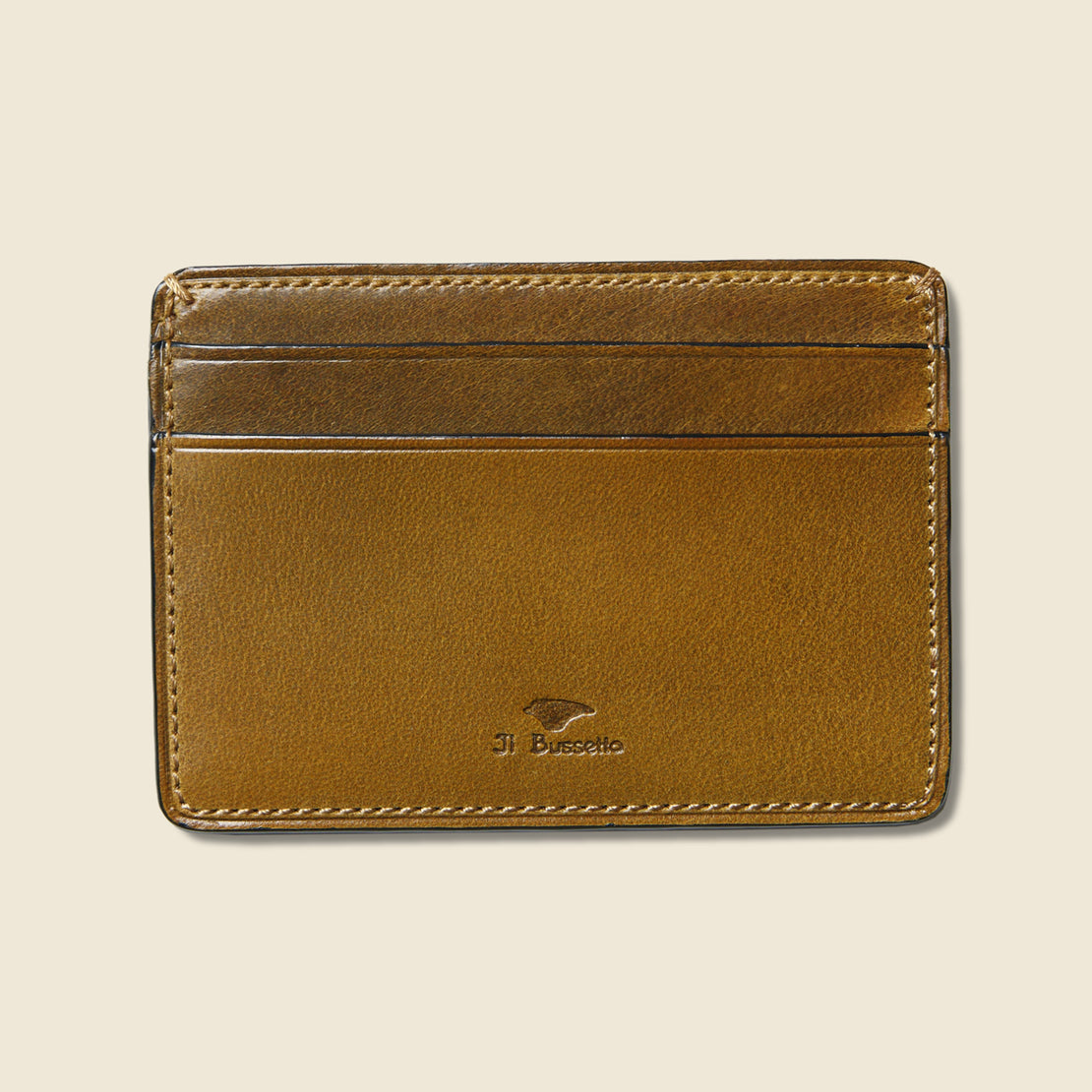 Il Bussetto Credit Card Case - Light Brown
