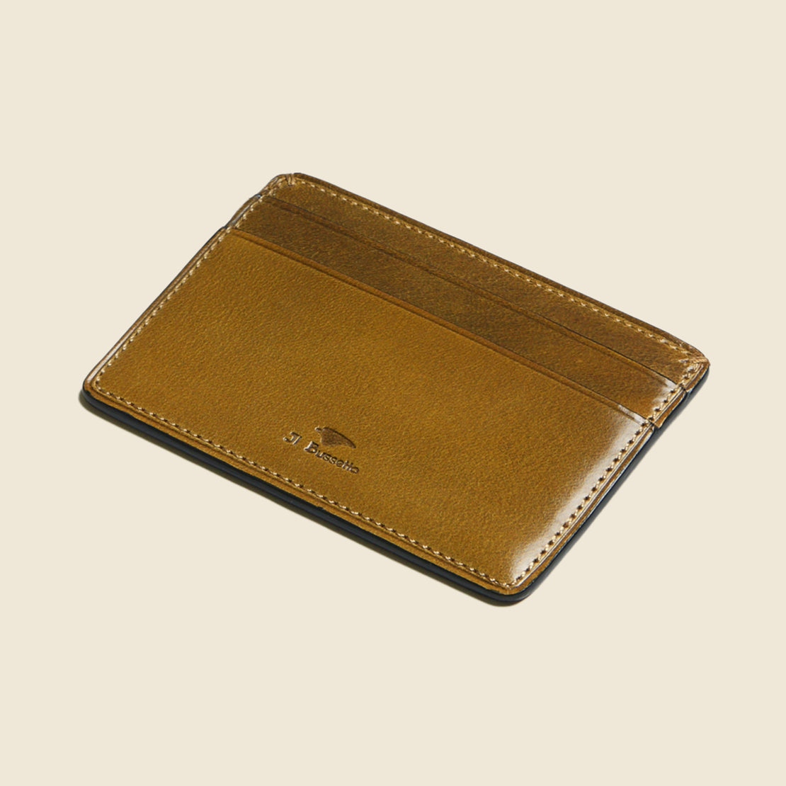 Credit Card Case - Light Brown - Il Bussetto - STAG Provisions - Accessories - Wallets