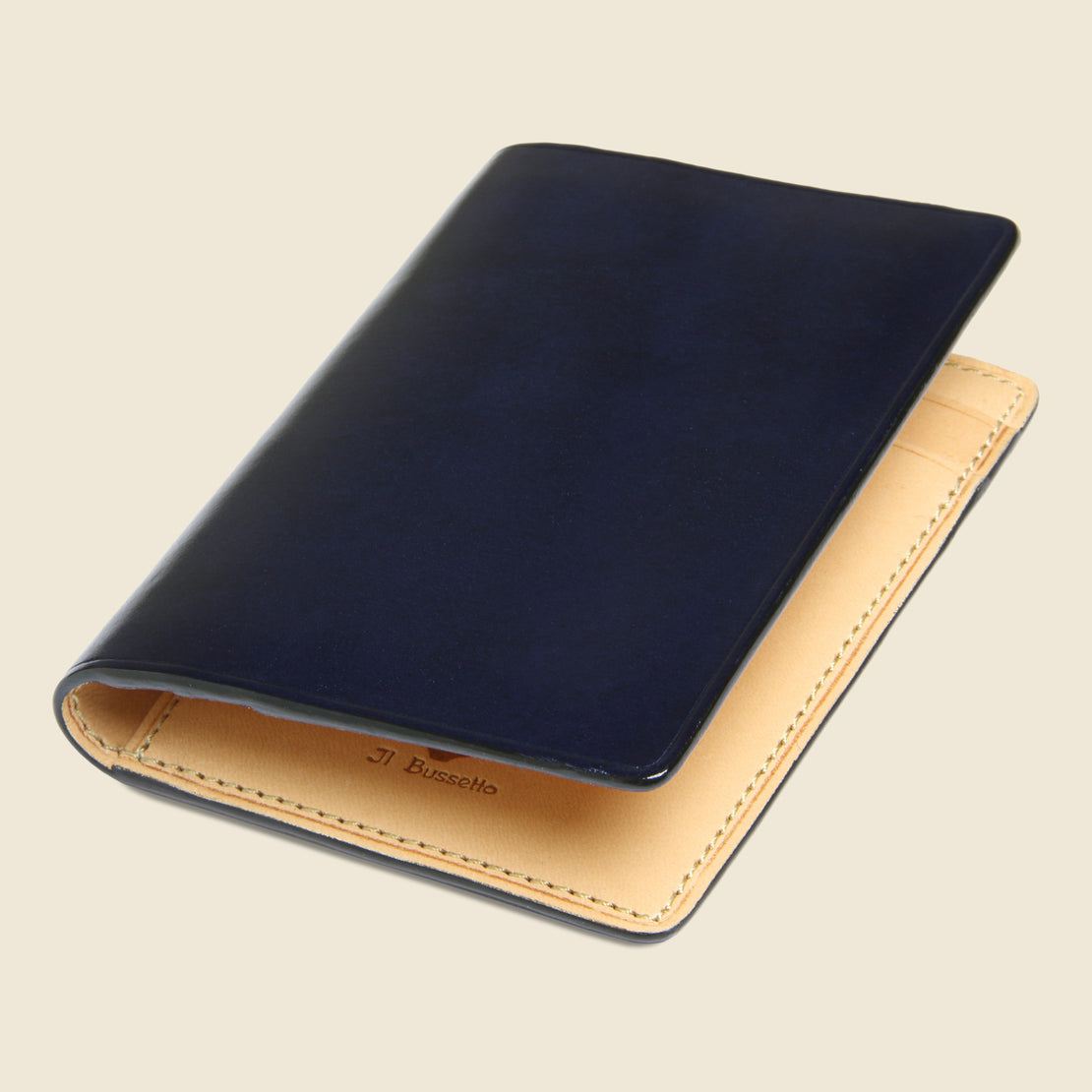 Bi-Fold Card Case - Navy - Il Bussetto - STAG Provisions - Accessories - Wallets
