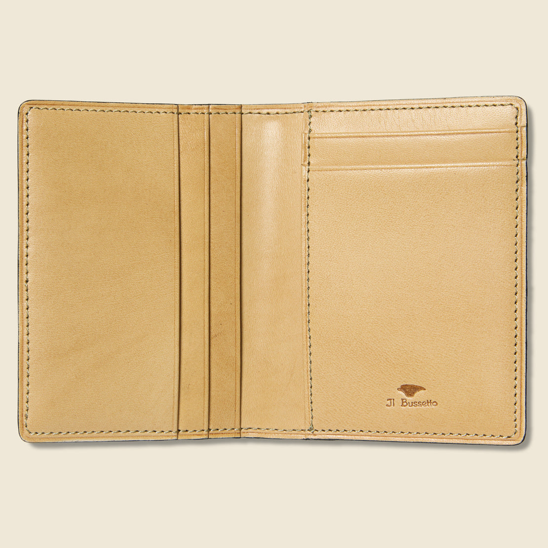 Bi-Fold Card Case - Camel - Il Bussetto - STAG Provisions - Accessories - Wallets