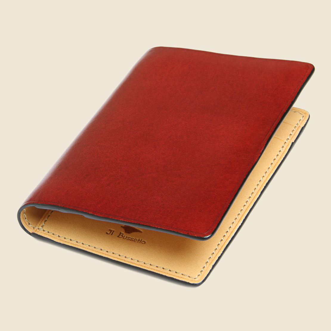 Bi-Fold Card Case - Red - Il Bussetto - STAG Provisions - Accessories - Wallets