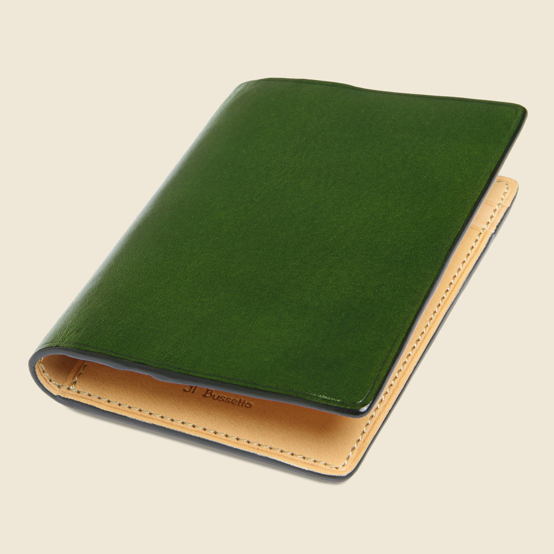 Bi-Fold Card Case - Green - Il Bussetto - STAG Provisions - Accessories - Wallets