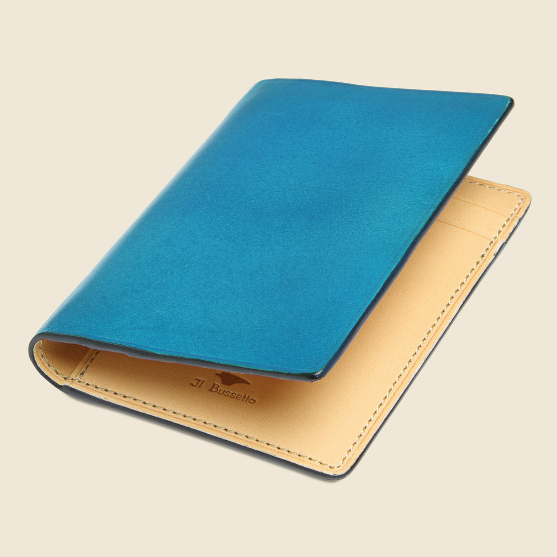 Bi-Fold Card Case - Cadet Blue - Il Bussetto - STAG Provisions - Accessories - Wallets