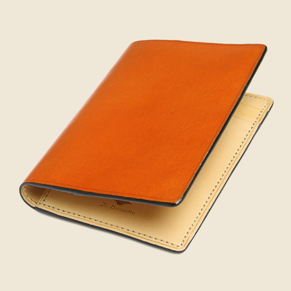 Bi-Fold Card Case - Orange - Il Bussetto - STAG Provisions - Accessories - Wallets