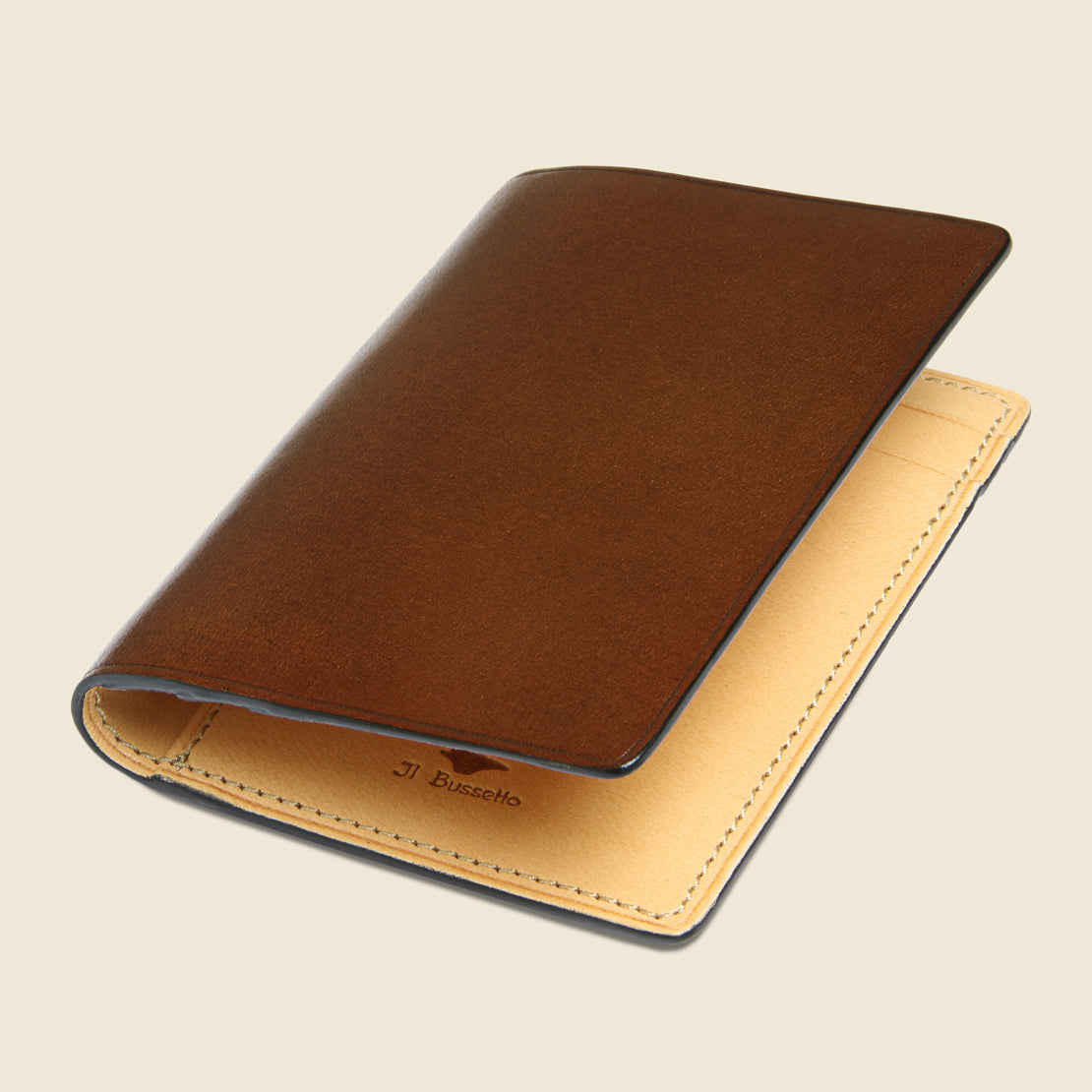 Bi-Fold Card Case - Brown - Il Bussetto - STAG Provisions - Accessories - Wallets