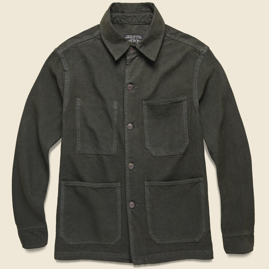 Imogene + Willie Jack Shirt Jacket - Over-Dyed Black