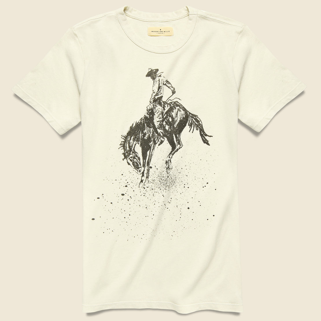Imogene + Willie Buckin' Bronco Tee - Vintage White