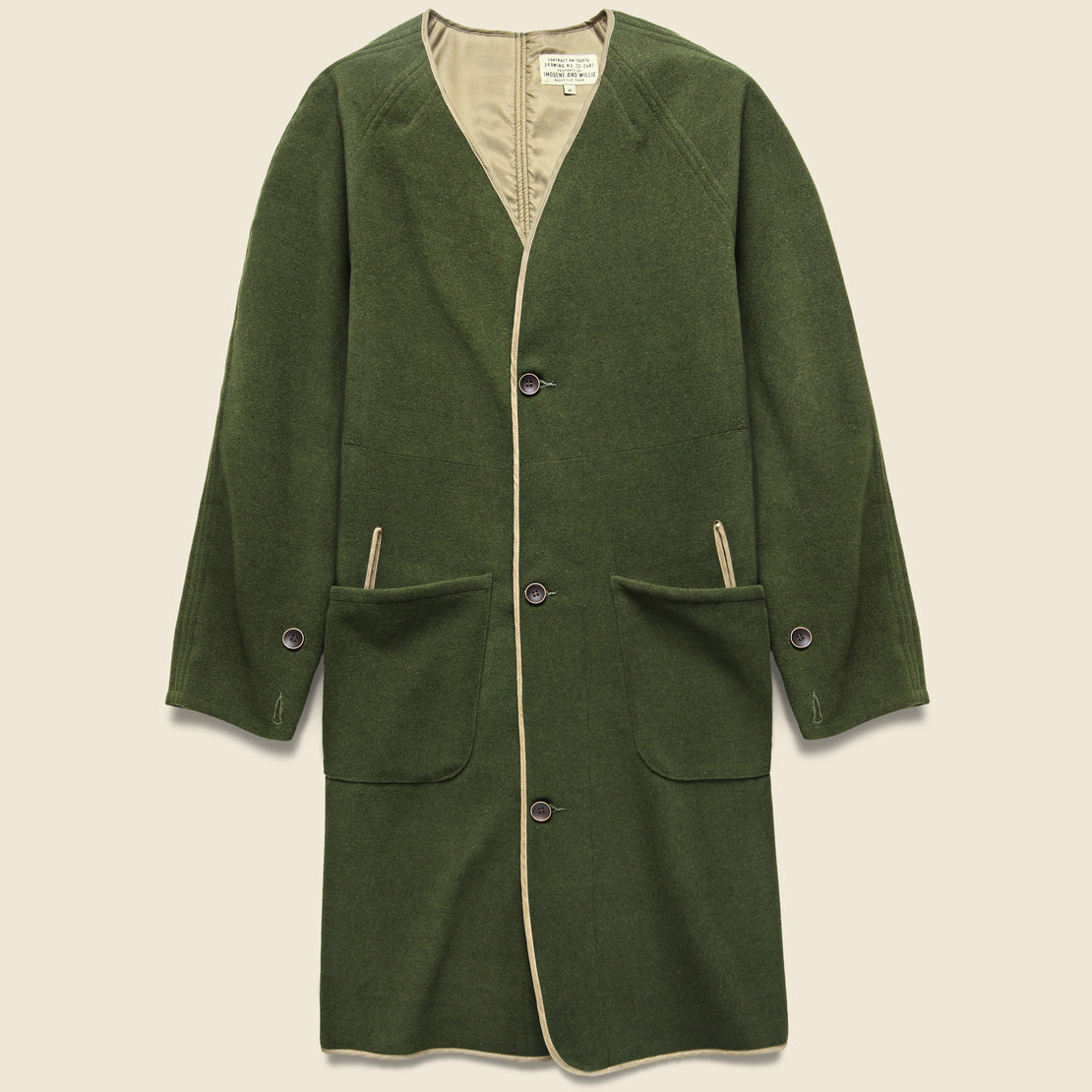 Imogene + Willie Halsey Coat - Olive Drab
