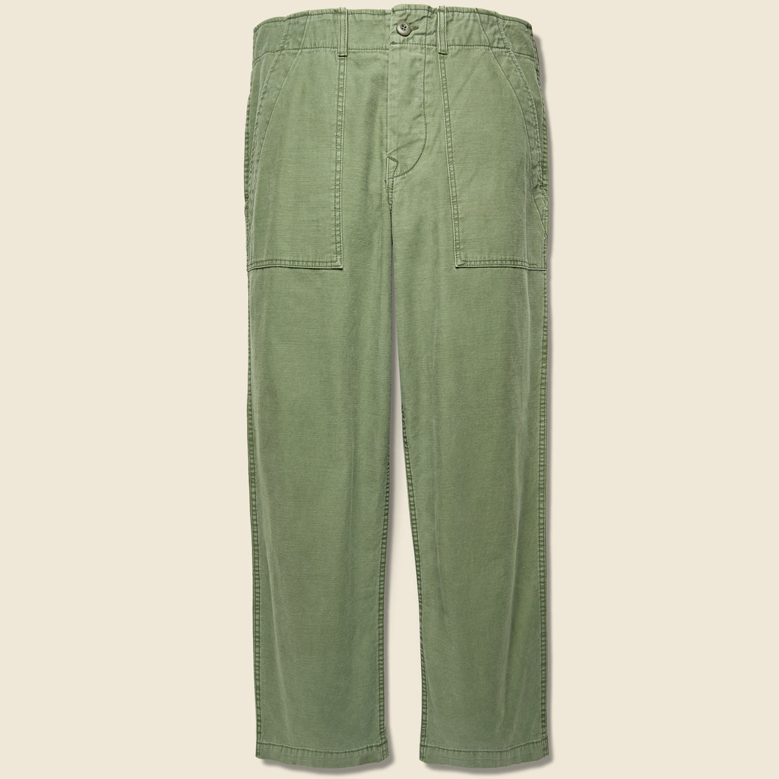 Imogene + Willie Oliver Military Trouser - Fatigue Green