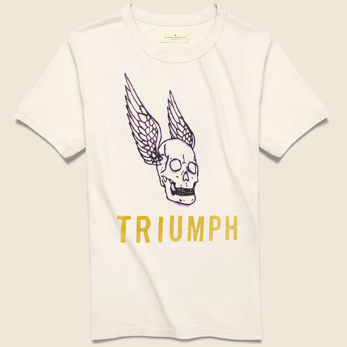 Imogene + Willie Triumph Tee - White
