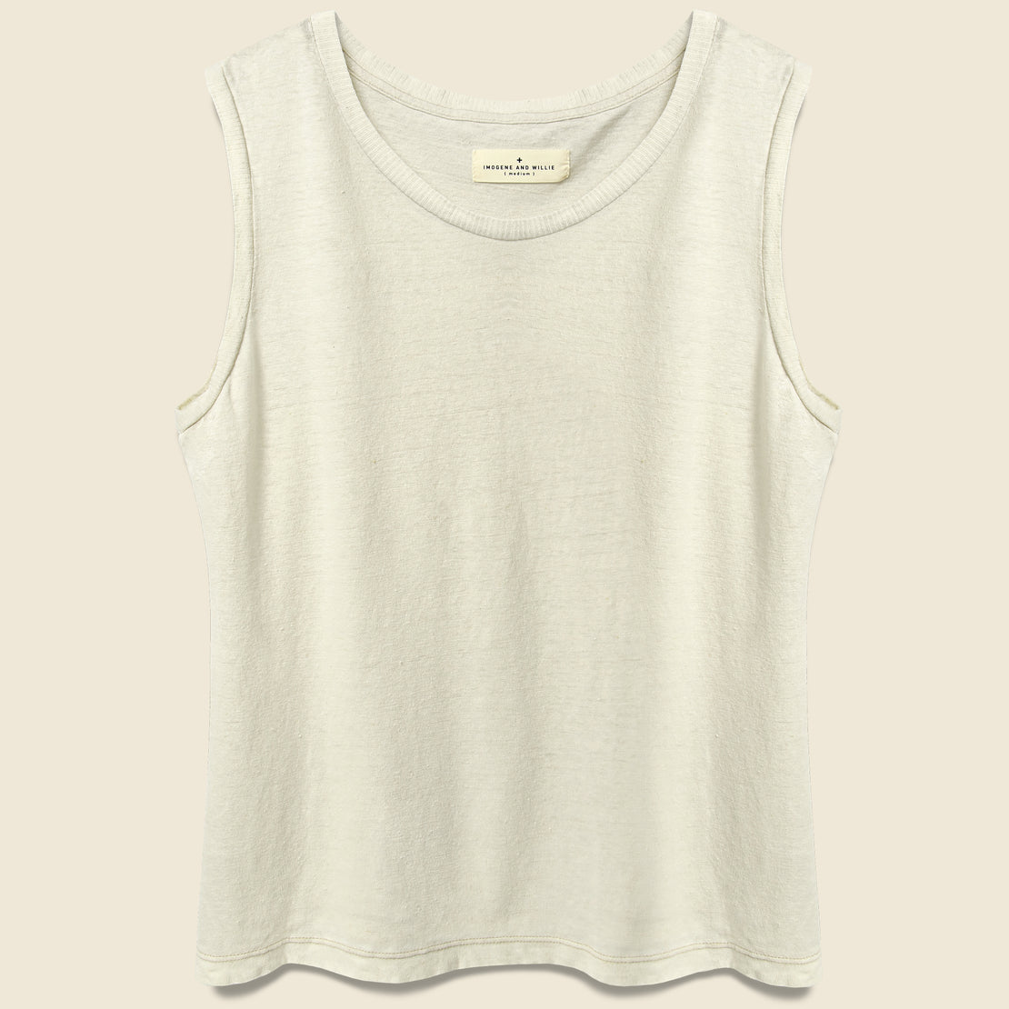 Imogene + Willie Cotton/Linen Muscle Tee - Natural