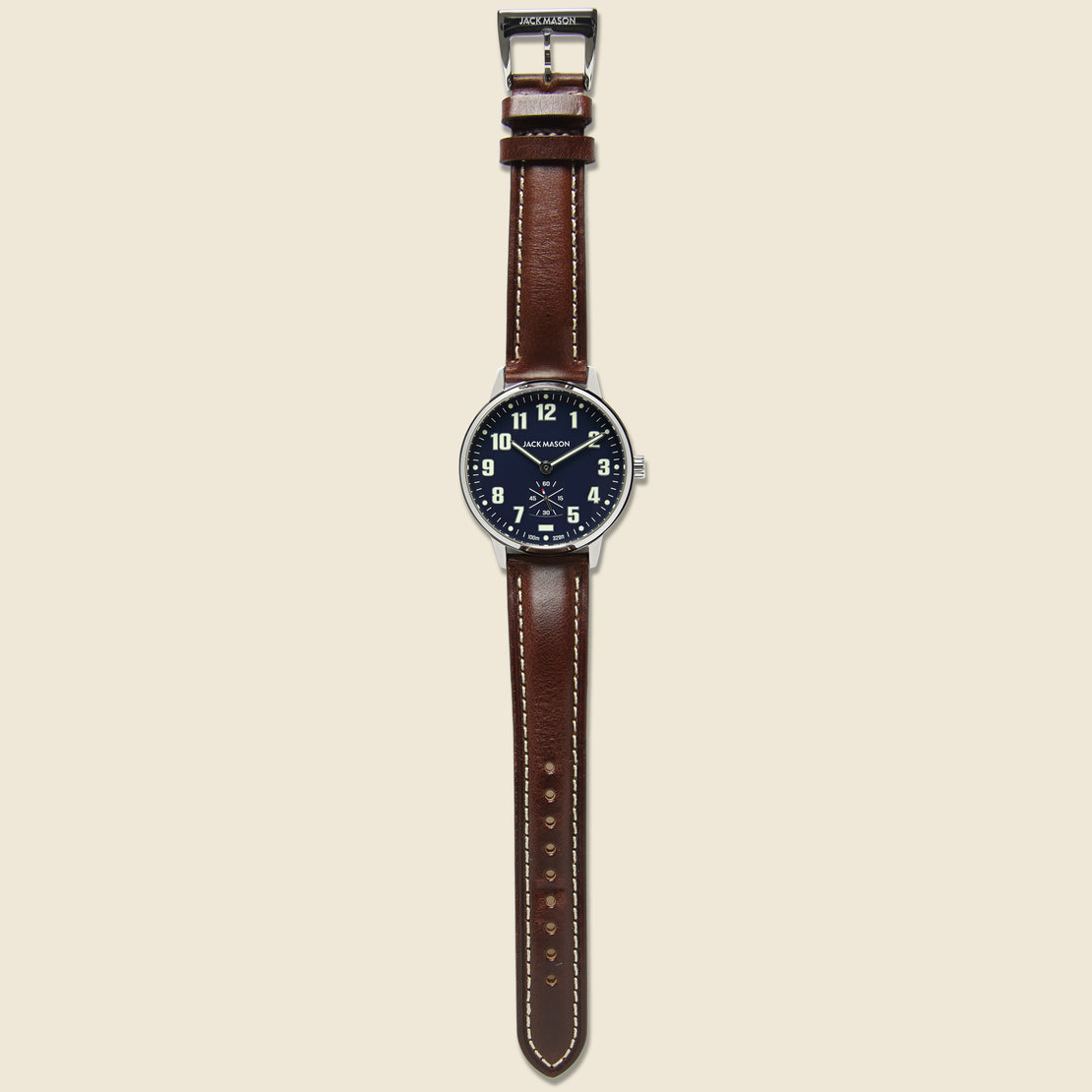 Field Camp Watch 38mm - Navy/Brown Leather