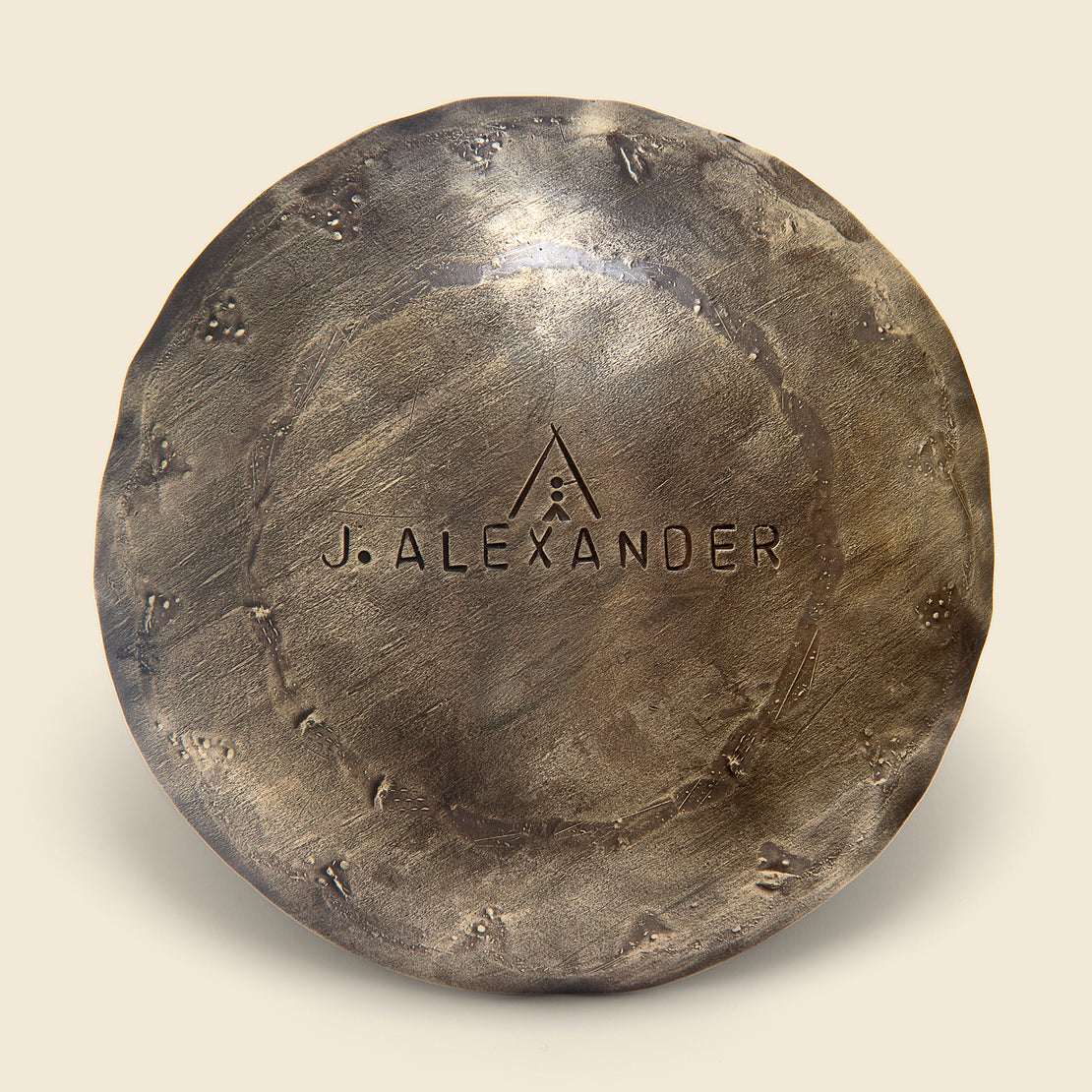 Round Stamped Incense Holder - Silver