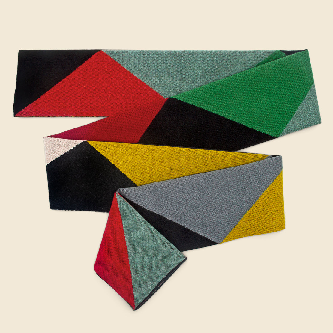 Triangles Lambswool Scarf - Multi