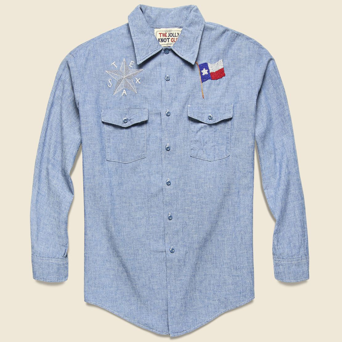 Embroidered Chambray Shirt - The Texas Brand