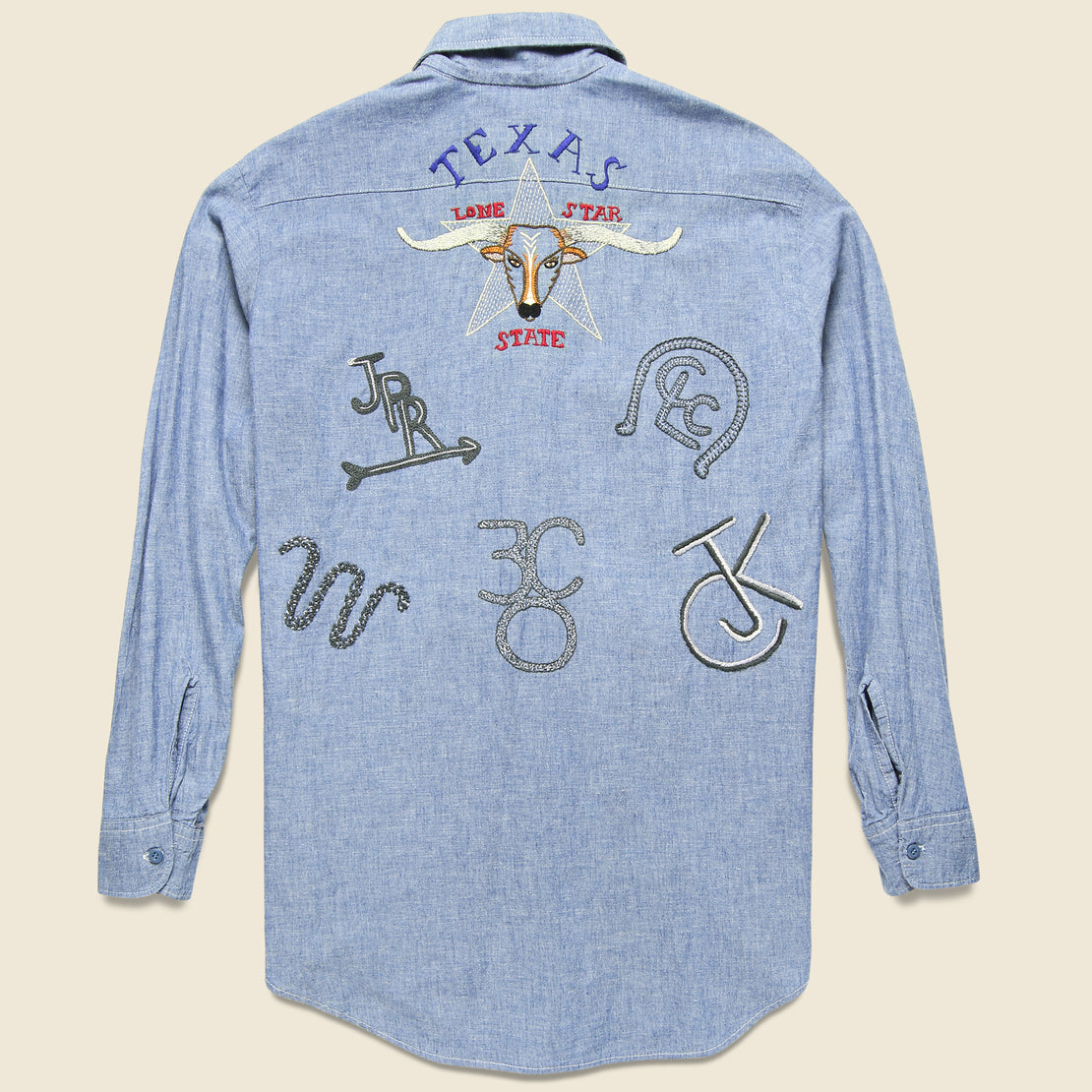 Jolly Knot Club Embroidered Chambray Shirt - The Texas Brand