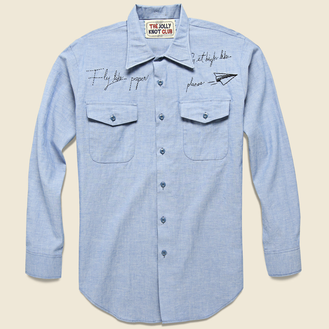 Embroidered Chambray Shirt - Paper Planes