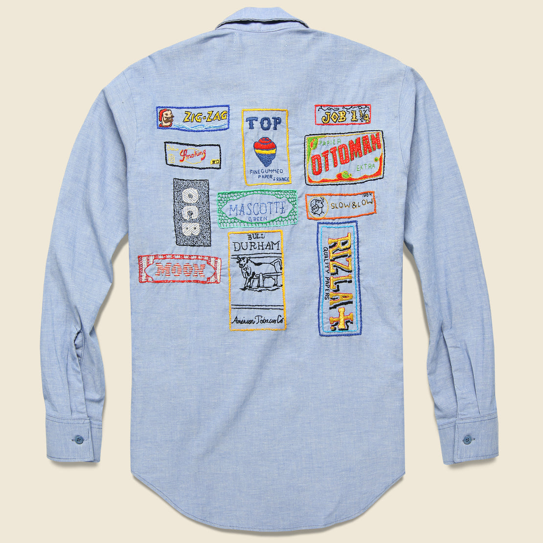 Jolly Knot Club Embroidered Chambray Shirt - Paper Planes