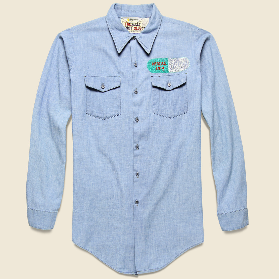 Embroidered Chambray Shirt - Valley of the Dolls